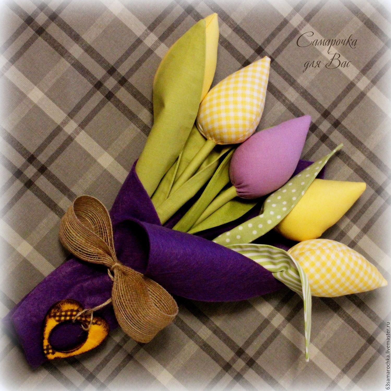 Тильда мания букет тюльпанов