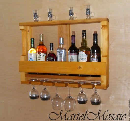 """Мебель ручной работы. Ярмарка Мастеров - ручная работа. Купить Полка для вина """"Лиственница"""". Handmade. Полка для вина, полка для кухни"""