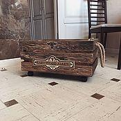 Ящики ручной работы. Ярмарка Мастеров - ручная работа Хранение вещей: ящик с декоративным элементом. Handmade.