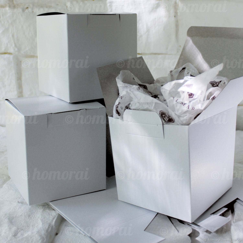Cardboard box white 105х105х110 mm, Box1, Moscow,  Фото №1