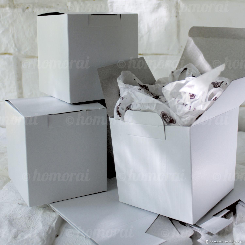 Коробка белая 105х105х110 мм – купить на Ярмарке Мастеров – 9ZCKNRU | Коробки, Москва