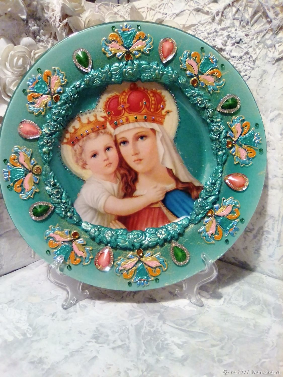 Plate interior ' Lord's icon of the mother Of God ', Plates, Krasnodar,  Фото №1