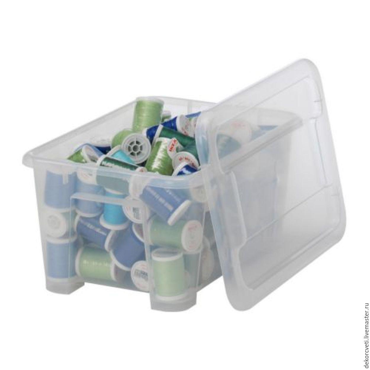 Короб (ящик, контейнер) универсальный 190х157х90мм 2л (прозрачный), Органайзеры, Ижевск,  Фото №1