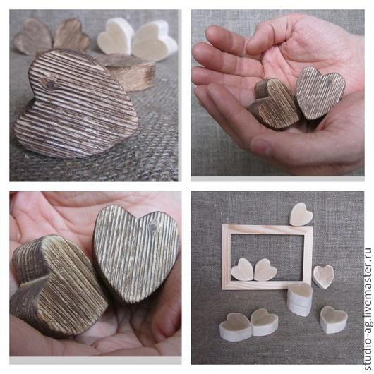 Праздничная атрибутика ручной работы. Ярмарка Мастеров - ручная работа. Купить Сердце 3D 4,5х5х2см. Handmade. Разноцветный, заготовка