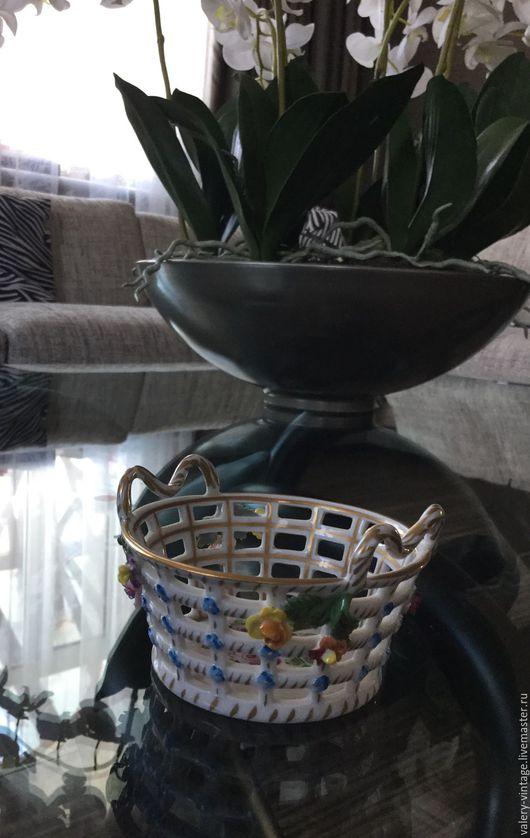 Винтажная посуда. Ярмарка Мастеров - ручная работа. Купить Антикварная конфетная вазочка, Германия, Карл Тиме.. Handmade. Комбинированный, не обычное