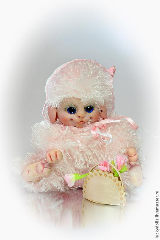 Коллекционные куклы ручной работы. Ярмарка Мастеров - ручная работа. Купить Карамелька. Handmade. Розовый, подарок, сказочный персонаж, конфетка