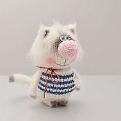 Мягкие игрушки ручной работы. Ярмарка Мастеров - ручная работа Вязаная игрушка Кот Морячок. Handmade.