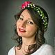Диадемы, обручи ручной работы. Ярмарка Мастеров - ручная работа. Купить Венок из цветов на голову. Handmade. Розовый, украшение в волосы