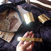 Браслет из бусин ручной работы. Ярмарка Мастеров - ручная работа Браслет и чокер с зеркальной вставкой. Handmade.