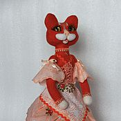 Для дома и интерьера handmade. Livemaster - original item The cat-tea lady (warmer kettle on). Handmade.