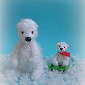 Куклы и игрушки ручной работы. Ярмарка Мастеров - ручная работа Белая медведица и медвежонок. Handmade.