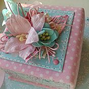 Свадебный салон handmade. Livemaster - original item A box for rings in the style of a shabby. Handmade.