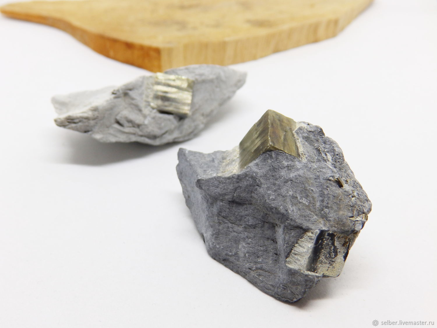 Pyrite in the rock, Druse, Gatchina,  Фото №1