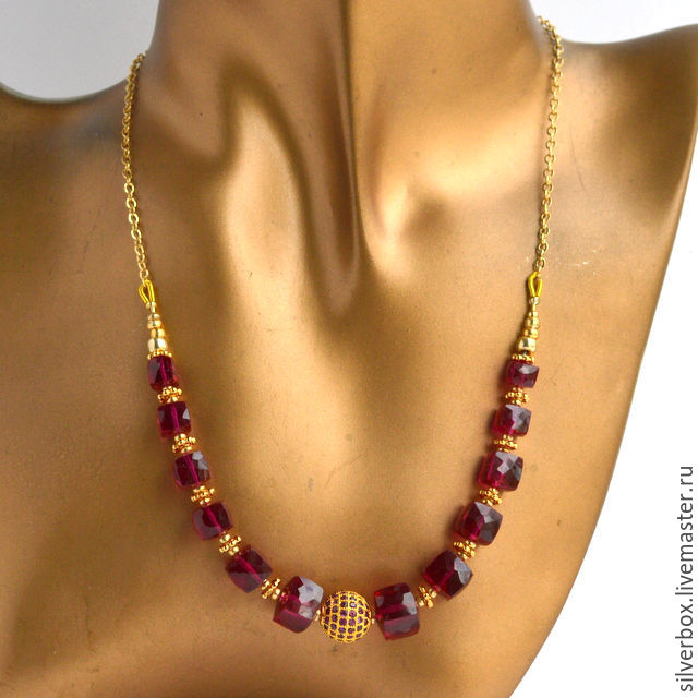 Copy of Necklace Spinel noble SMALL Necklaces handmade, Necklace, Moscow,  Фото №1