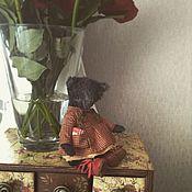 Куклы и игрушки ручной работы. Ярмарка Мастеров - ручная работа Девушка в клетчатом платье. Handmade.
