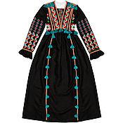 "Одежда handmade. Livemaster - original item Black long dress ""Summer Sunset"". Handmade."