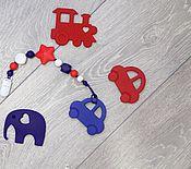 Работы для детей, ручной работы. Ярмарка Мастеров - ручная работа Держатель с машинкой. Handmade.