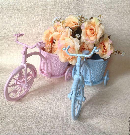 Материалы для флористики ручной работы. Ярмарка Мастеров - ручная работа. Купить Велосипед-кашпо. Handmade. Разноцветный, для флористики