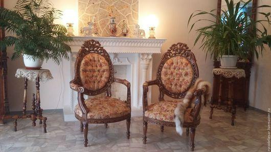 Мебель ручной работы. Ярмарка Мастеров - ручная работа. Купить Кресло резное. Handmade. Резное кресло, прованс, тонировака