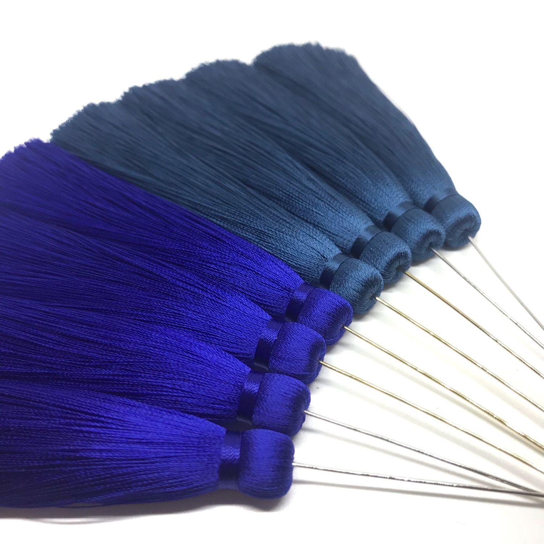 Аппликации, вставки, отделка ручной работы. Ярмарка Мастеров - ручная работа. Купить Кисть бесшовная 9-11см «Blue collection» с пином. Handmade.