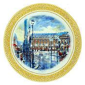 Посуда handmade. Livemaster - original item Decorative plate CITY. Handmade.
