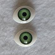 Материалы для творчества handmade. Livemaster - original item Eyes oval doll 10х14 mm. Handmade.