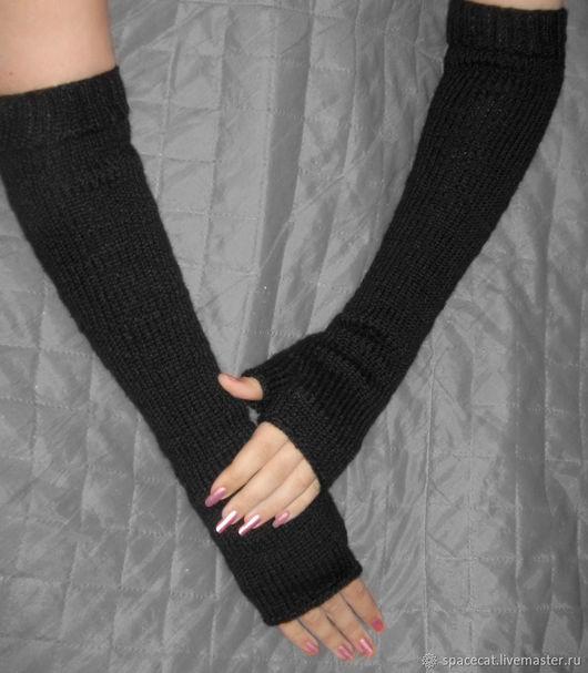 Mittens & Gloves handmade. Livemaster - handmade. Buy Elegant long fingerless gloves.Casual, gift on March 8