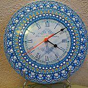 """Для дома и интерьера ручной работы. Ярмарка Мастеров - ручная работа Часы-""""Голубая-лагуна"""". Handmade."""