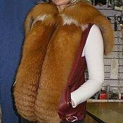Одежда ручной работы. Ярмарка Мастеров - ручная работа жилетки из меха лисы-огневки. Handmade.