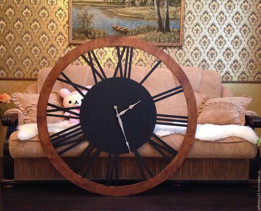 Часы для дома ручной работы. Ярмарка Мастеров - ручная работа. Купить Часы BIG LOFT. Handmade. Комбинированный, часы loft