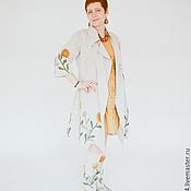 Одежда ручной работы. Ярмарка Мастеров - ручная работа Бохо-плащ из льна. Handmade.