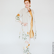 Одежда handmade. Livemaster - original item Boho cloak of flax. Handmade.