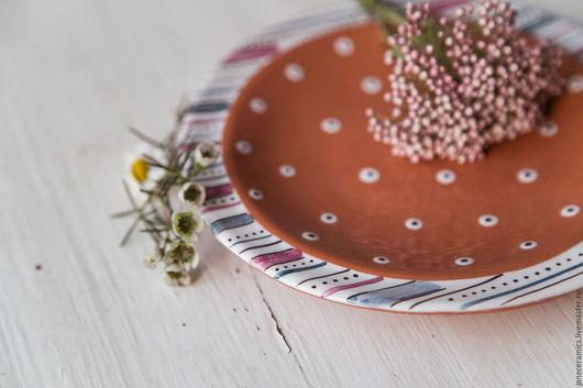 Тарелки ручной работы. Ярмарка Мастеров - ручная работа. Купить Сливовый пудинг. Блюдце/Пирожковая тарелочка ручной работы, керамика. Handmade.