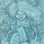 """Картины и панно ручной работы. Ярмарка Мастеров - ручная работа """"Музыка Моря"""" Картина в морском стиле. Русалка.. Handmade."""