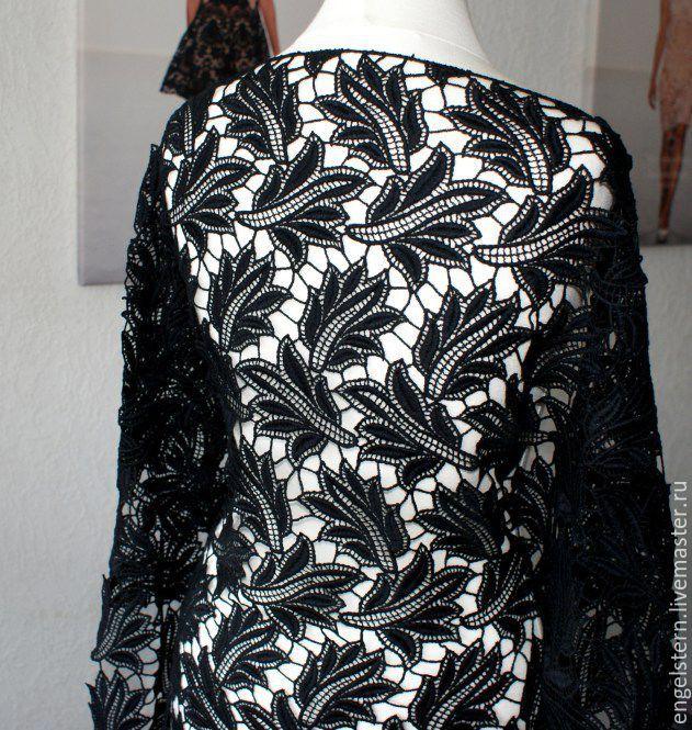 """Кружевное полотно """"Черные листья""""(1), Fabric, Gera,  Фото №1"""