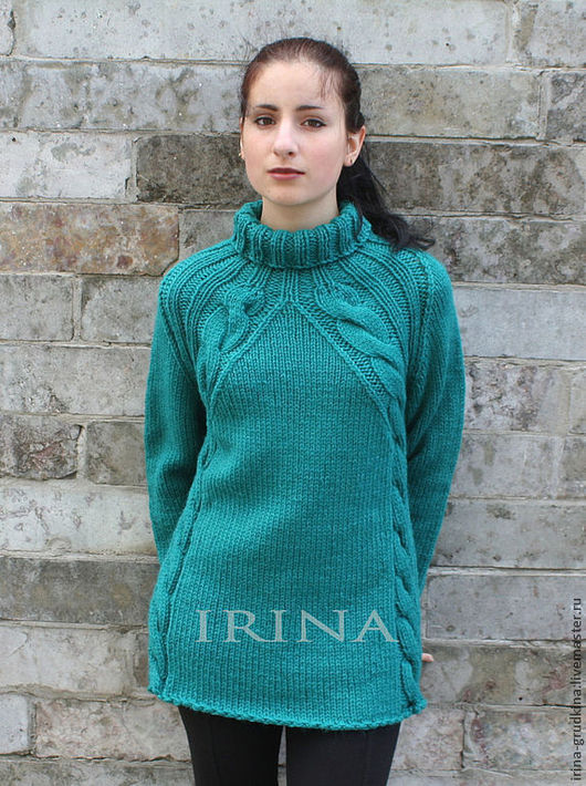 """Кофты и свитера ручной работы. Ярмарка Мастеров - ручная работа. Купить Свитер """"Аквамариновый"""". Handmade. Морская волна, свитер, зеленый"""