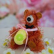 Куклы и игрушки ручной работы. Ярмарка Мастеров - ручная работа игрушка Медвежонок на пасху (яйцо, пасхальный,мишка). Handmade.