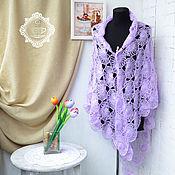 Аксессуары handmade. Livemaster - original item Shawls: The shawl is knitted on a fork Pink dream. Handmade.
