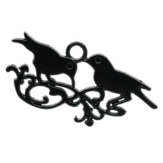 Для украшений ручной работы. Ярмарка Мастеров - ручная работа. Купить Птицы. Handmade. Черный, подвеска для украшений, фурнитура для украшений