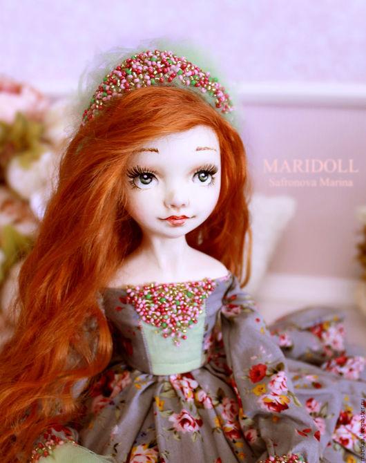Коллекционные куклы ручной работы. Ярмарка Мастеров - ручная работа. Купить Хлоя подвижная кукла. Handmade. Подарок девушке, цветы
