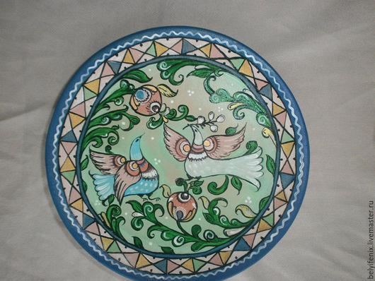 Декоративная посуда ручной работы. Ярмарка Мастеров - ручная работа. Купить Нежность-2. Handmade. Разноцветный, Тарелка декоративная