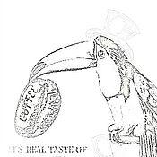 Картины и панно ручной работы. Ярмарка Мастеров - ручная работа Птица, зовут Туканом) картина белый фон фото минимализм, серый белый. Handmade.
