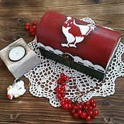 """Для дома и интерьера ручной работы. Ярмарка Мастеров - ручная работа Шкатулка  для чая """"Кантри"""". Handmade."""
