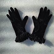 Винтаж handmade. Livemaster - original item Vintage accessories: Pan velvet gloves, vintage Germany. Handmade.