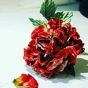 Украшения handmade. Livemaster - original item Velvet rose. Handmade.