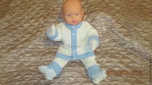 Для новорожденных, ручной работы. Ярмарка Мастеров - ручная работа. Купить костюмчик для малыша. Handmade. Разноцветный, кофточка детская