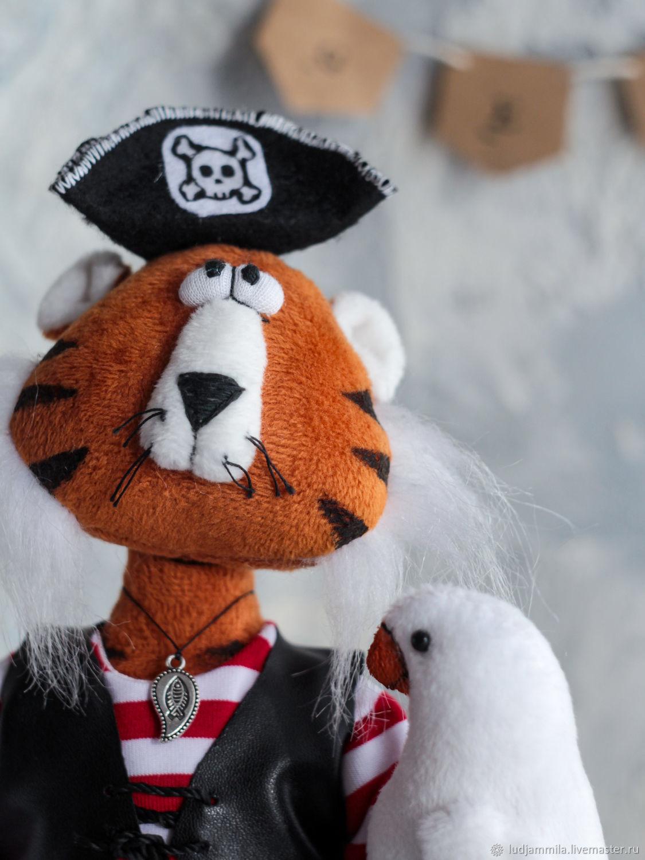 Тигр - пират, Мягкие игрушки, Приморско-Ахтарск,  Фото №1
