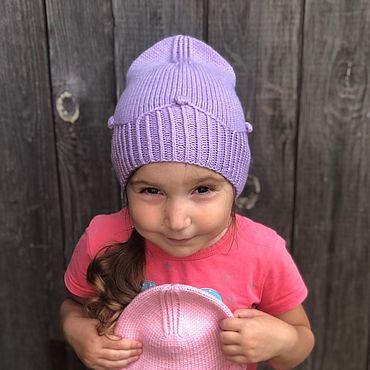Одежда ручной работы. Ярмарка Мастеров - ручная работа Вязаная шапка для девочек «Принцесса». Handmade.