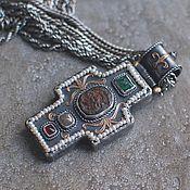 Украшения handmade. Livemaster - original item Cross Antique II, silver and gold. Handmade.