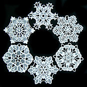 Подарки к праздникам handmade. Livemaster - original item Set of snowflakes on the Christmas tree, Jack frost.. Handmade.
